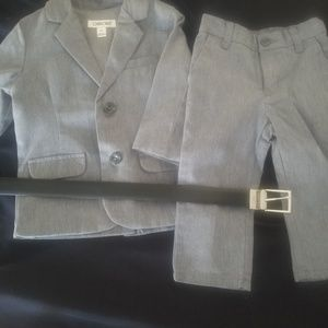 Toddler suit  with belt